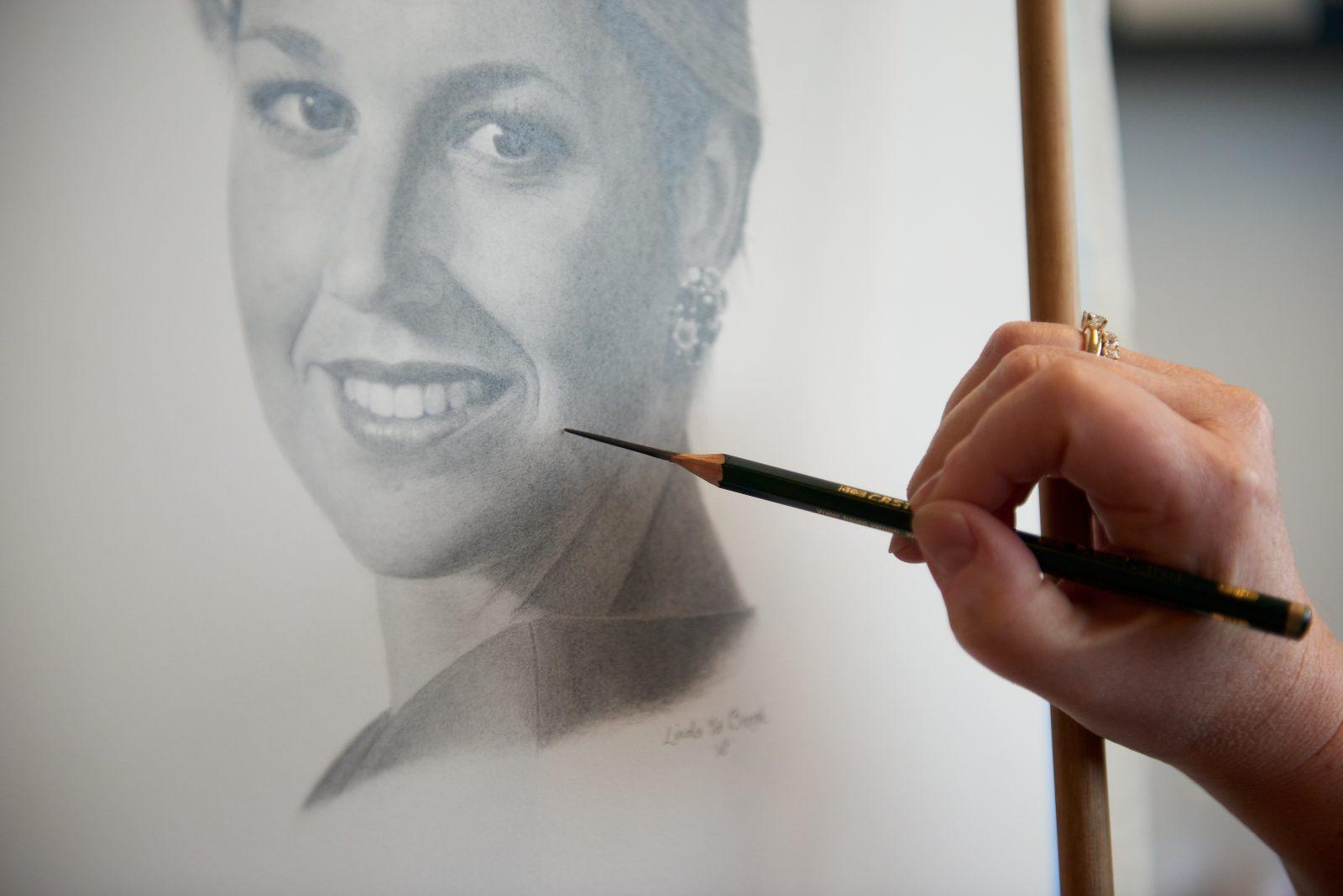 Leer portrettekenen bij artstudio linda