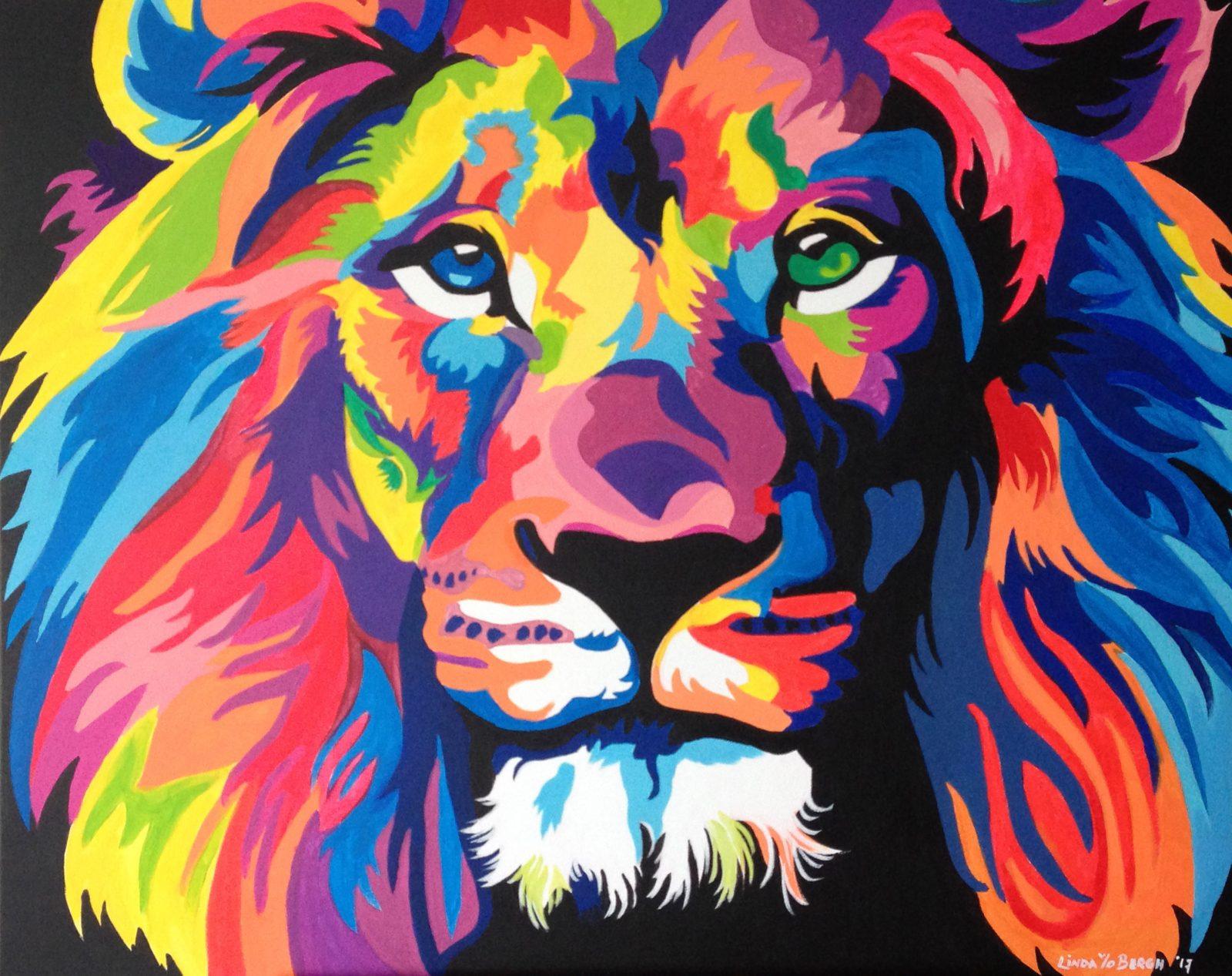 Leeuw in kleur