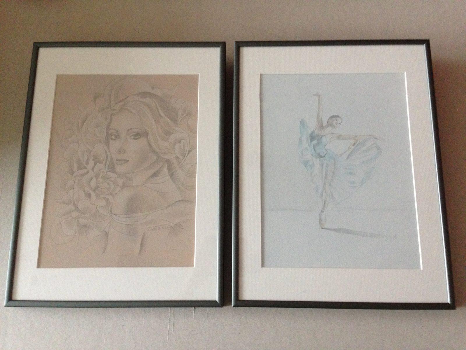 silverpoint drawings gemaakt door linda vd bergh