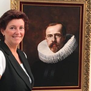 Linda bij haar zelf geschilderde oude meester