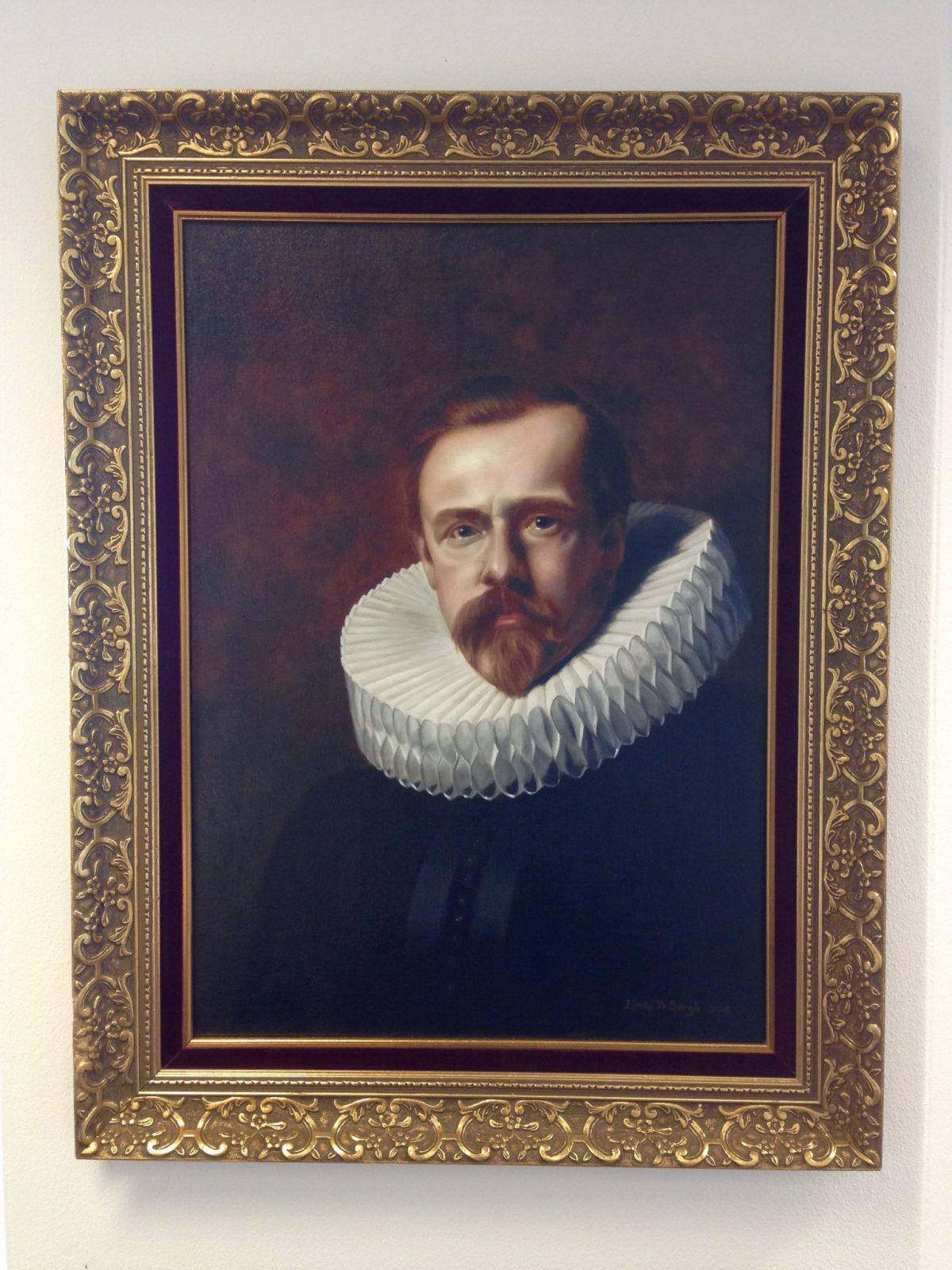 Portret naar frans hals met molensteenkraag