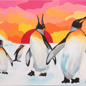 workshop pinguin pret in acryl