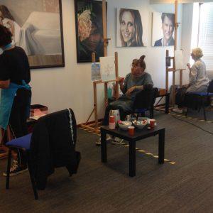 Leren schilderen voor beginners en gevorderden Amstelveen Uithoorn Aalsmeer artstudio linda