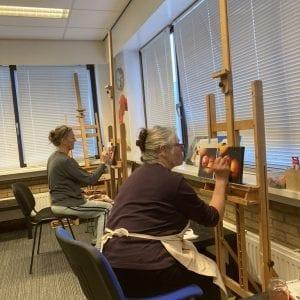 Leren schilderen voor beginners en gevorderden Amstelveen Uithoorn Aalsmeer artstudio linda,