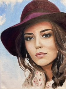 Portret schilderen olieverf Amstelveen